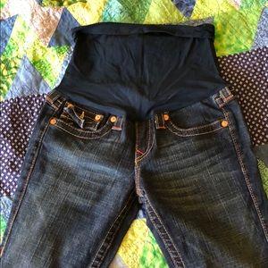 True religion maternity jeans size 28